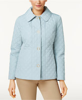 Anne Klein Quilted Snap-Front Coat