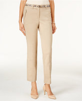 JM Collection Cropped Belted Pants, Only at Macy's