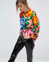 Love Moschino Floral Print Sweater