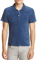 Todd Snyder Indigo Terry Regular Fit Polo Shirt