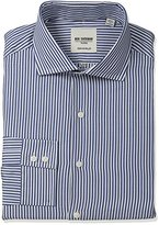 Ben Sherman Men's Slim Fit Dobby Stripe Spread Collar Dress Shirt