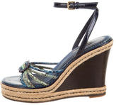 Louis Vuitton Snakeskin Wedge Sandals