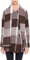 Balenciaga Check Alpaca Coat