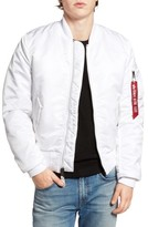 Mens White Bomber Jacket - ShopStyle