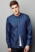 Next Blue Raw Denim Grandad Shirt