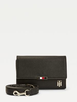 Tommy Hilfiger Magnetic Flap Monogram Crossover Bag