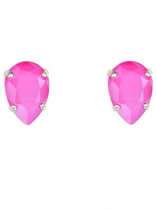 Rosaspina Firenze Drop Stud Earrings In Peony Pink