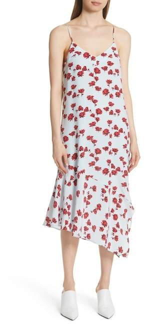 Equipment Jada Floral Print Silk Slipdress