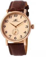 Adee Kaye Men's Vintage Mechanical 41.43mm Brown Calfskin Band Steel Case Automatic Watch AK9061-MRG-RG