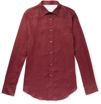 Brioni Melange Linen Shirt