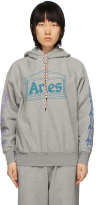 Aries Grey Temple Logo Hoodie