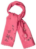 Kate Spade Snowflake-Accented Knit Scarf