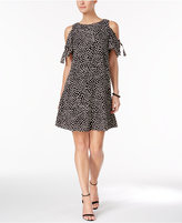 Jessica Howard Printed Cold-Shoulder Dress