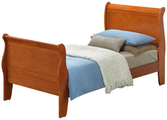 Glory Furniture Selva Bed, Oak, Twin