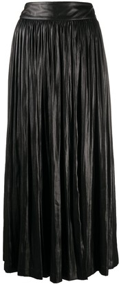 Alysi Pleated Midi Skirt