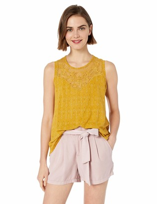 Lucky Brand Women's Applique Yoke Tank