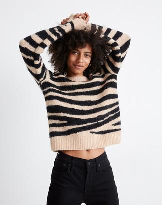 Madewell Shrunken Pullover Sweater in Tiger Stripe