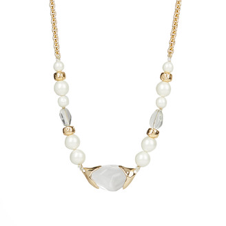 Alexis Bittar Encased Pebble Pearl Strand Necklace