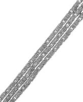 Townsend Victoria Rose-Cut Diamond Three-Row Bracelet in Silver-Plated Brass (2 ct. t.w.)