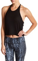 Alo Shine Ribbed Cropped Tank Top