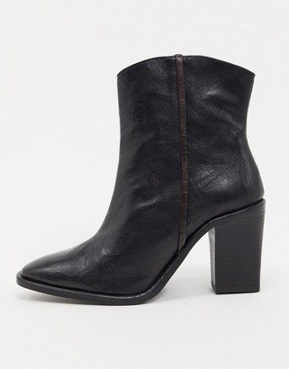 Free People Barclay western ankle boots in black