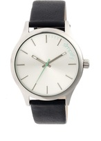 Simplify The 2400 Collection SIM2401 Men's Stainless Steel Watch with Leather Strap