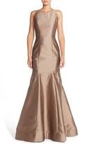 Women's Monique Lhuillier Bridesmaids Back Cutout Taffeta Mermaid Gown