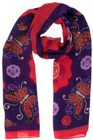 Anna Sui Sheer Floral Scarf w/ Tags