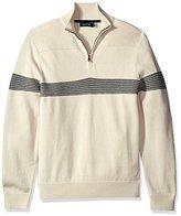 Nautica Men's Textured Quarter Zip Pullover