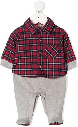 Lapin House Flannel-Panelled Pajamas