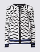 Marks and Spencer Spotted Round Neck Cardigan
