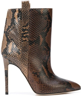 Paris Texas Snakeskin Effect Stiletto Boots