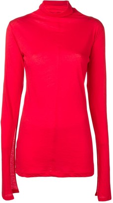 Unravel Project slit sleeve jumper