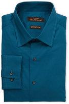 Ben Sherman Solid Teal Stretch Dress Shirt