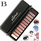 Eyeshadow Palette Makeup,Baomabao 12 Color Matte Shimmer Eyeshadow Cream Makeup Palette Women Cosmetic (B)