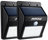 8 LED Security Solar Powerd Light, Mpow Wireless LED Security Motion Sensor Light, Outdoor Wall Garden Lamp For Patio, Deck, Yard, Garden, Home, Driveway, Stairs, Outside Wall, With Dusk to Dawn Dark Sensing Auto On / Off Functio(Pack of 2)