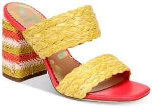 Sam Edelman Women's Estella Woven Double-Band Dress Sandals Women's Shoes