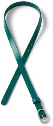 Lands' End Plus Size Skinny Leather Belt