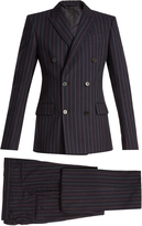 CONNOLLY Striped double-breasted cotton suit