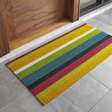 "Crate & Barrel Chilewich ® Multi Thick Striped 24""x48"" Doormat"