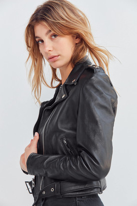 Schott Perfecto Leather Cropped Moto Jacket