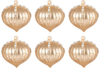 Elk Lighting Set Of 6 Pointed Ball Ornament Gold