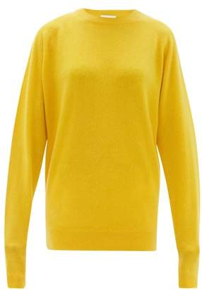 Raey Raglan-sleeve Boyfriend Cashmere Sweater - Womens - Yellow