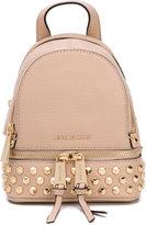MICHAEL Michael Kors 'Rhea' zip backpack - women - Leather/metal - One Size