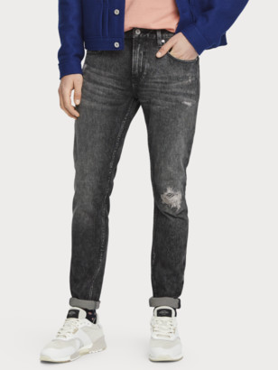 Scotch & Soda Skim - Carve It Out Organic cotton Mid-rise super-skinny jeans | Men