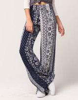 SKY AND SPARROW Linear Diamond Womens Wide Leg Pants