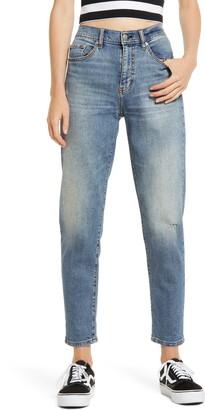 DAZE Loverboy Distressed High Waist Boyfriend Jeans