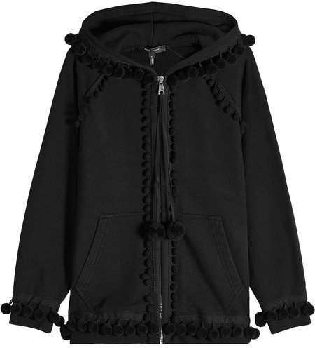 Marc Jacobs Pompom Zipped Cotton Hoodie