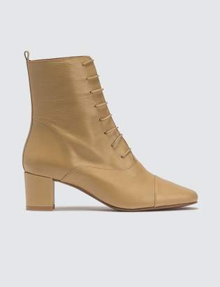 BY FAR Lada Leather Cream Boots