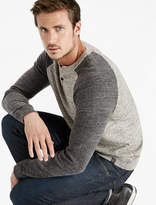 Lucky Brand Color Block Henley Sweater